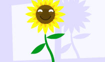 Sunflower friend eCard
