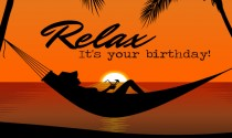 Relax on your Birthday eCard
