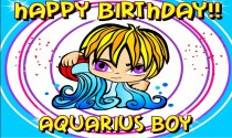 Aquarius boy b-day eCard