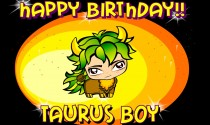 Taurus Birthday Boy eCard