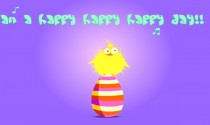 Easter Chick eCard