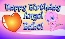 Happy Birthday My Angel Babe eCard