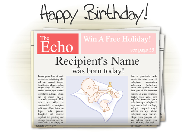 This Birthday Ecard Shows Three Newspaper Articles Of What Happened In June 1973 Is A Really Interesting Way To Say Happy As ECard