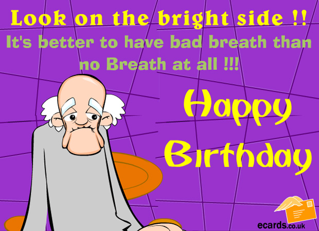 ecards  bad breath, Birthday card