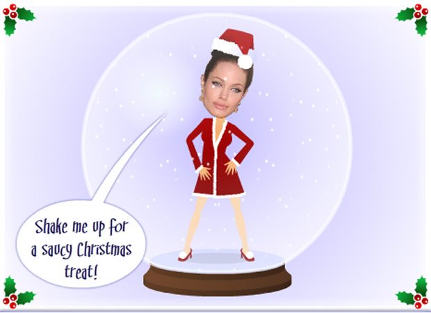 Face Upload Saucy Xmas Snow Globe