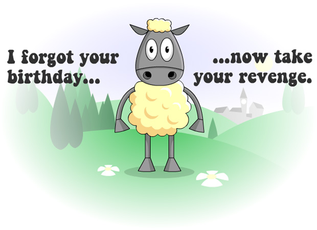 Funny Belated Birthday Sheep
