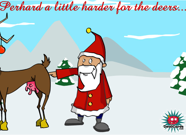 funny dirty santa poor reindeer this christmas e card
