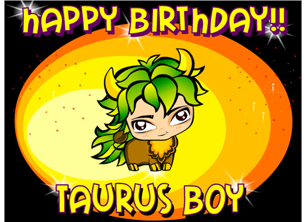 Astrological Taurus Birthday Boy