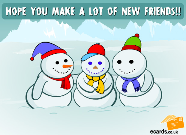 Hug & Friends Snowman makes New Friends