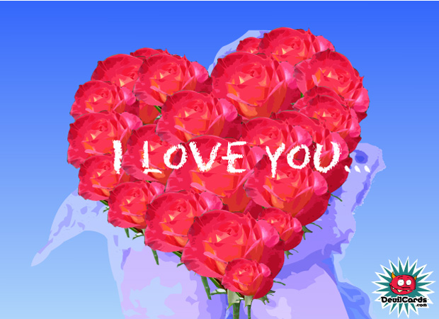 I Love You Flower Love