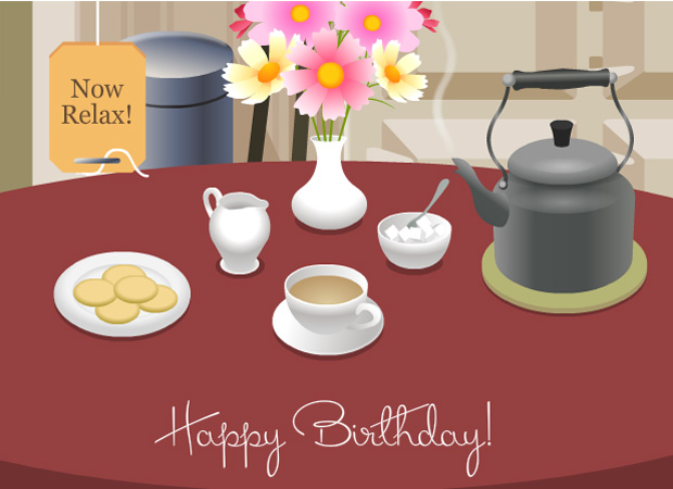 Ecards birthday tea ecard bookmarktalkfo Gallery