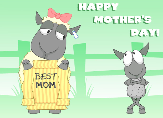 Mothers Day Mums Jumper Sheep