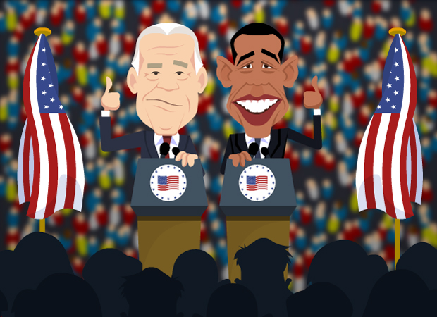 Topical Birthday Cards Obama and Biden...