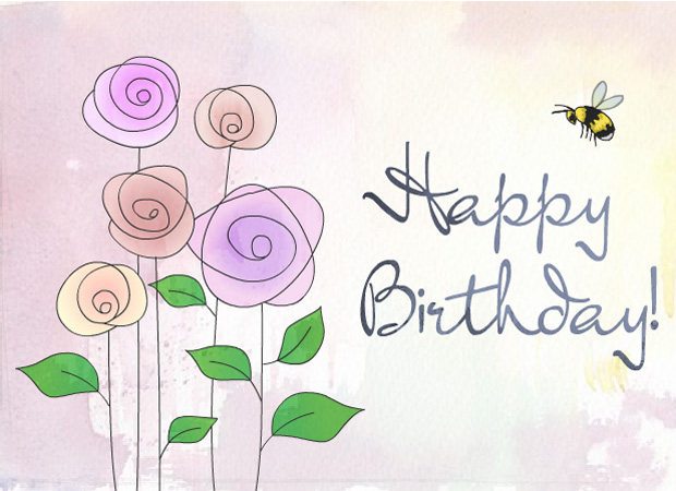 eCards Blooming Birthday – E Birthday Cards Uk Free