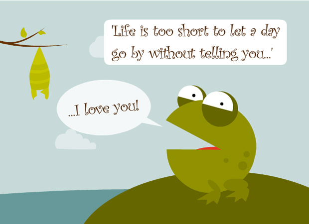 eCards Valentine Frog – Electronic Valentines Day Card