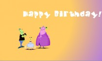 Alien Birthday song eCard