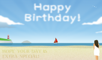 Seaside Birthday eCard