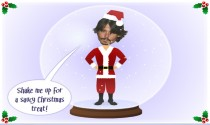 Saucy Male Snow Globe eCard
