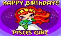 Pisces Girl eCard
