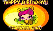Taurus Girl Facts eCard