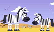 Newcastle zebra eCard
