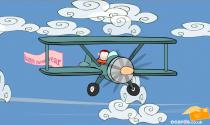 Happy New Year Plane eCard