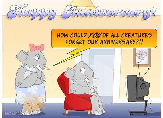 Anniversary Happy Anniversary Elephant