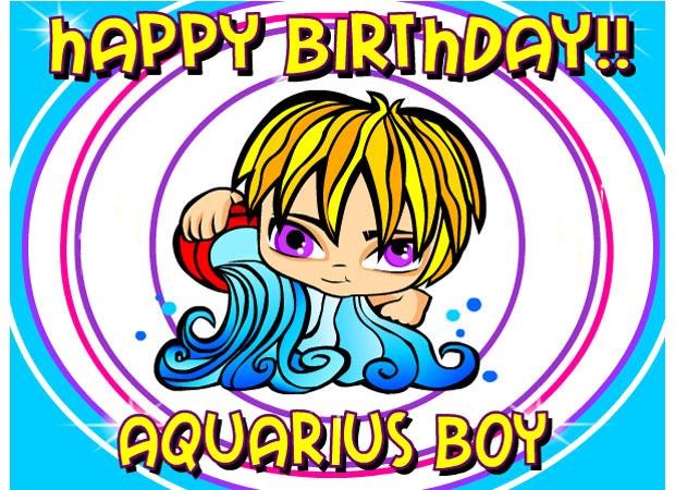 Astrological Aquarius Birthday Boy