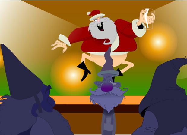 Christmas Pantless Santa