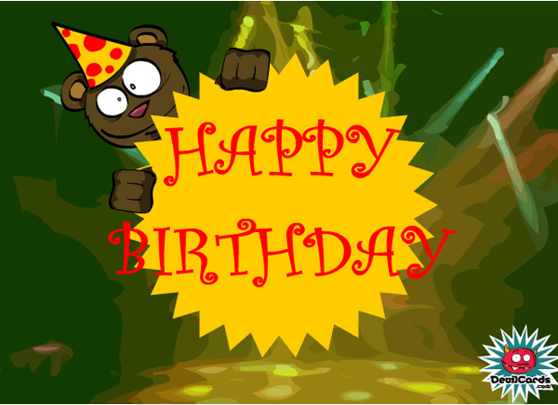 For Kids Birthday Bear (Funky)