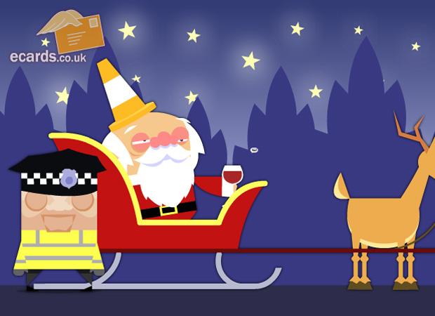 Funny Drunk Santa