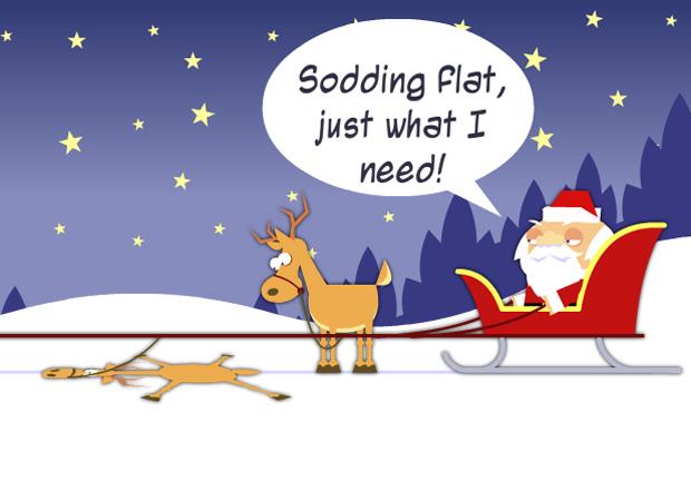 Funny Flat Reindeer
