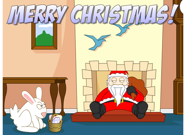 Funny Late Santa