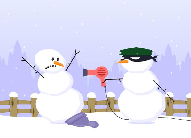 Funny Poor Snowman