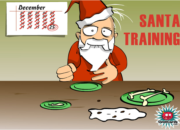 Funny Santa Training