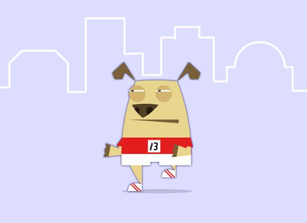 Good Luck Marathon Dog