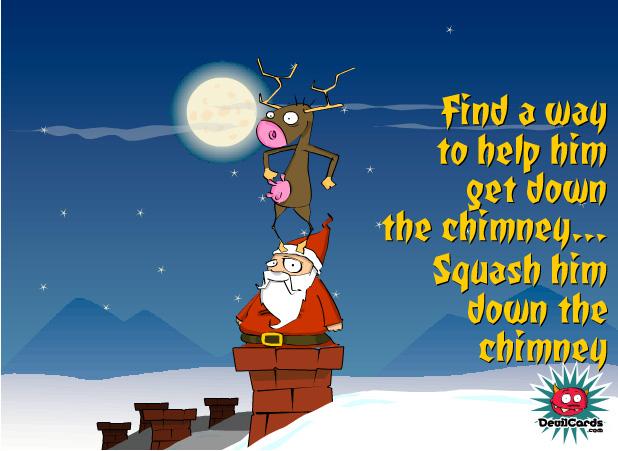 Interactive Squash Santa