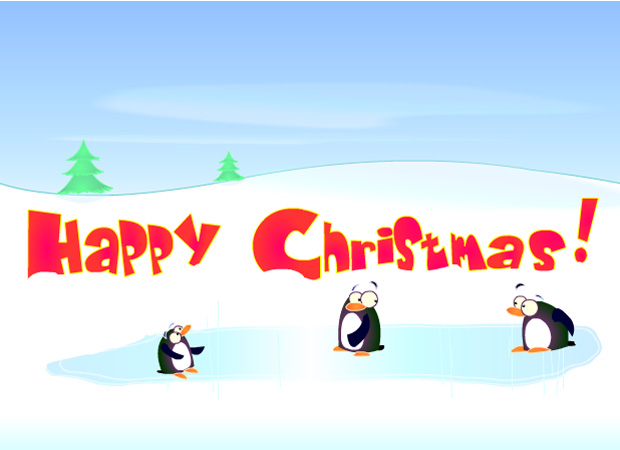 Seasonal Penguin Christmas