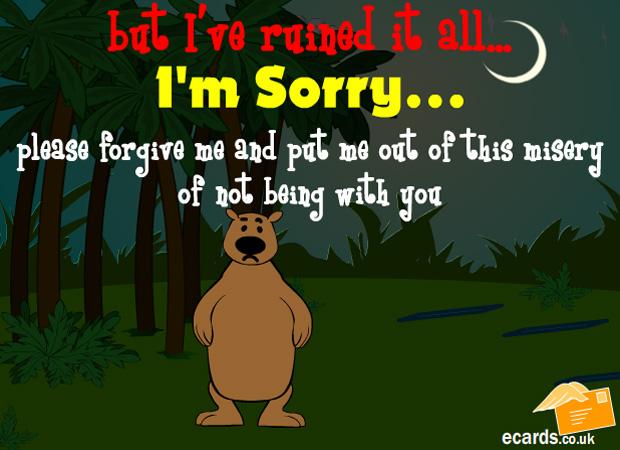 Sorry I'm Sorry Bear