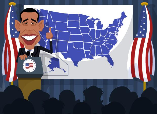 Topical Birthday Cards Obama VS McCain