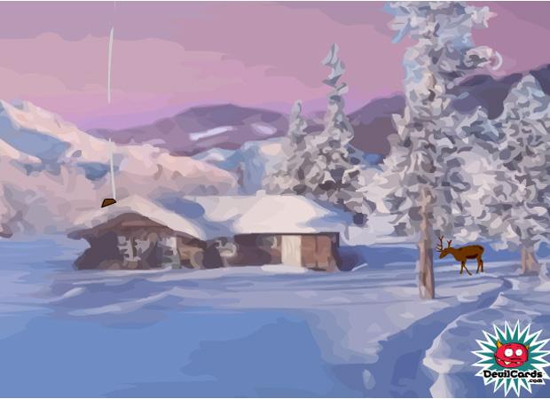 Traditional Beautiful Xmas Scene